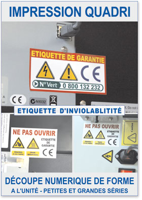 Autocollants ultracassants d'inviolabilité (garantie)